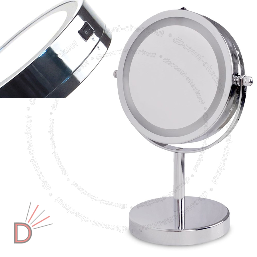 round magnifying led illuminated bathroom make up cosmetic vanity mirror gift ebay. Black Bedroom Furniture Sets. Home Design Ideas