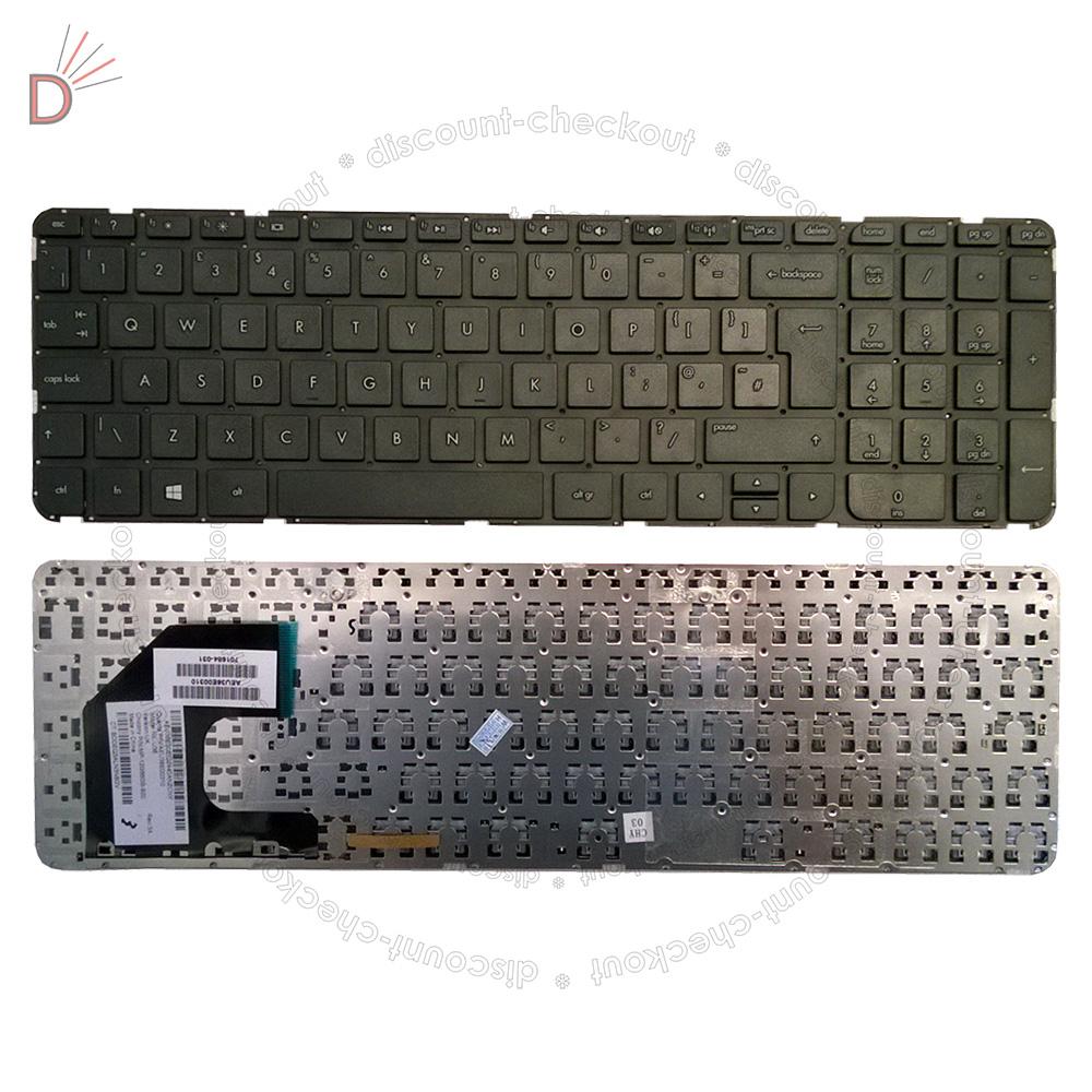NEW HP Sleekbook 15 15T 15Z 15-B 15-U 15B  Keyboard AEU36U00310 701684-001 US