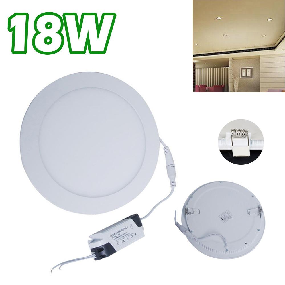18 Watt Slim Round Ceiling Suspended LED Panel Cool Weiß Light UKDC