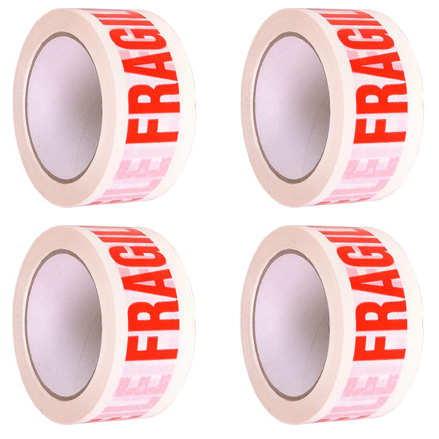 48mm X 66m Fragile Printed Strong Parcel Tape Packaging