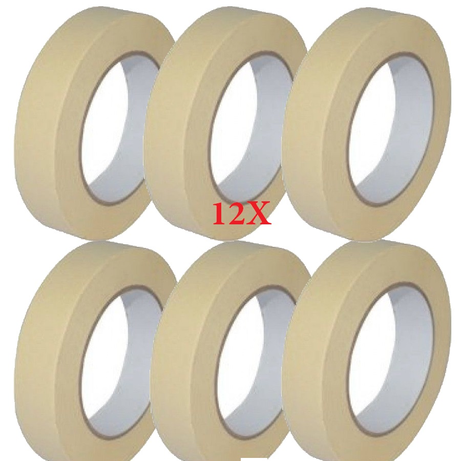 New 1X LOW TACK MASKING TAPE 25MM X 50M PAINTING MASK DECORATE Multi Surface