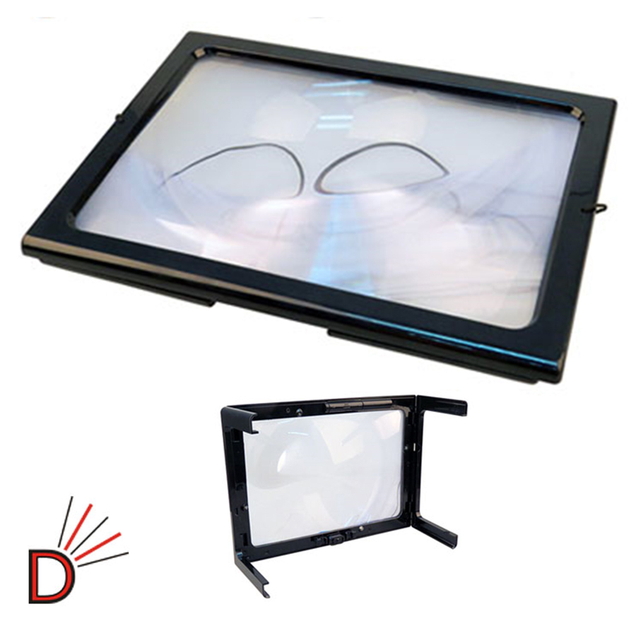 new giant magnifier large hands free magnifying glass with. Black Bedroom Furniture Sets. Home Design Ideas