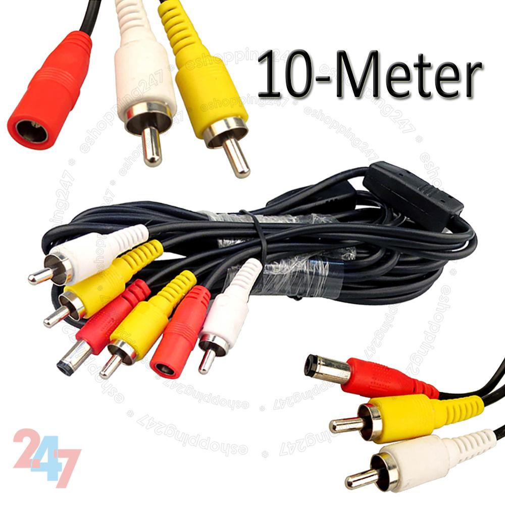 10m Cctv Security Camera Video Rca Dvr Dc Power Plug Phono Extension Wiring Shop Categories