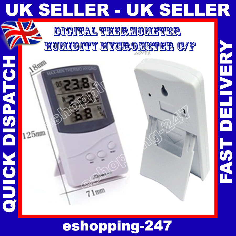 Digital Thermometer Humidity Hygrometer Office Indoor Room