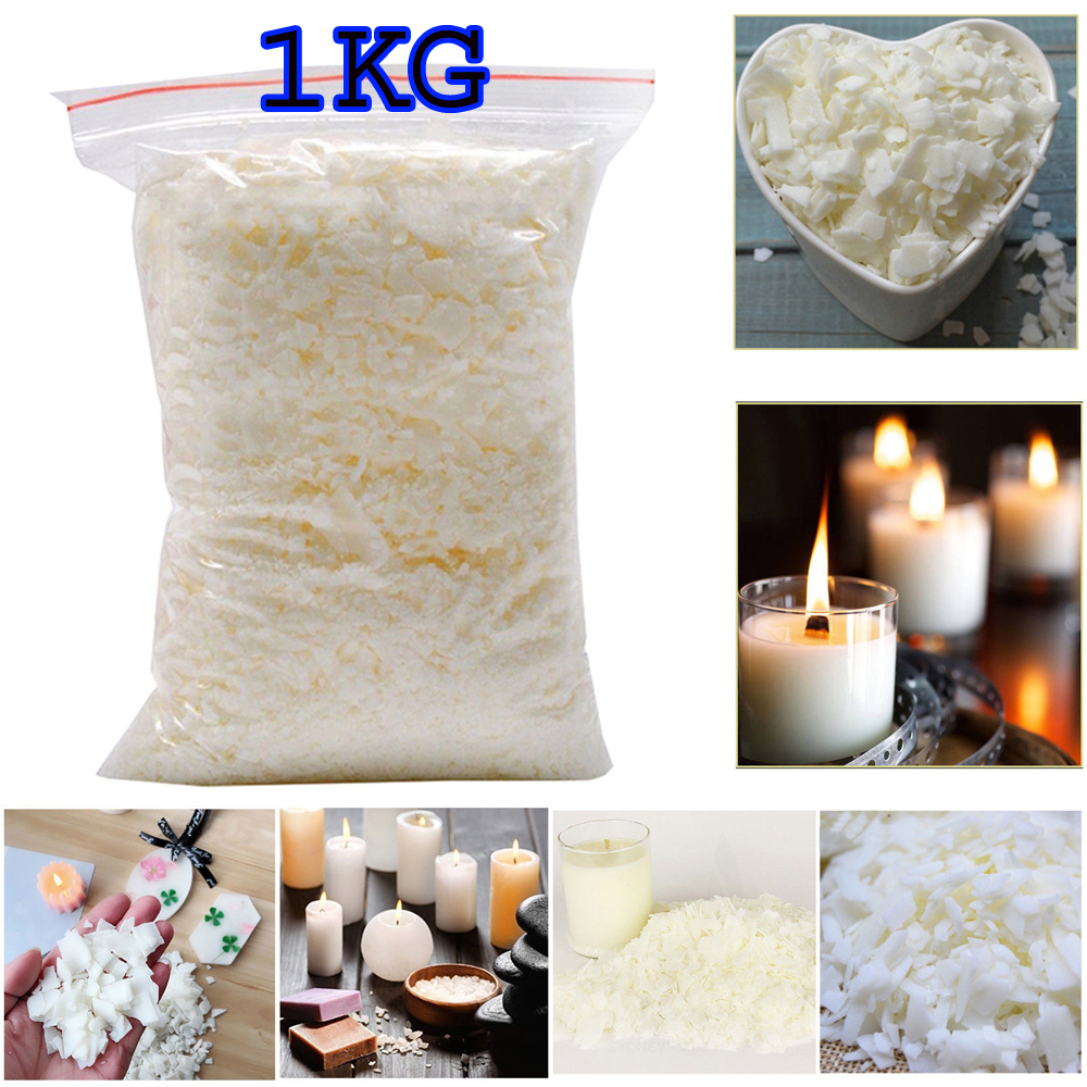 Natural Soy Wax 1Kg Soy wax // Soya Wax Flakes 100/% Pure No Soot Clean Burning