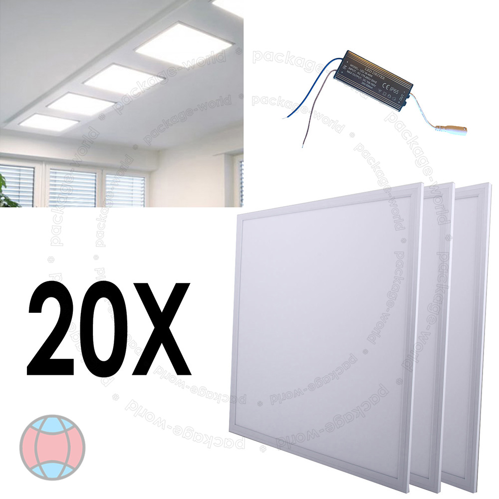 Suspended Ceiling Lights 600mm X 600mm : W ceiling suspended recessed led panel white office