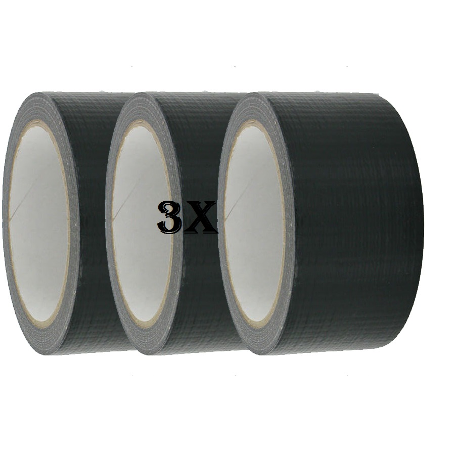 3X SILVER Duck Duct Gaffa Gaffer Waterproof Cloth Tape 48mmx50m New Reliable