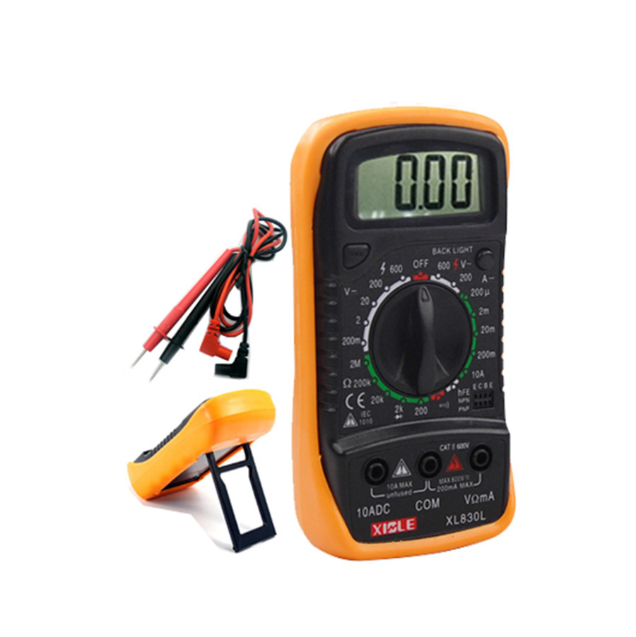 Hand Held Ohmmeter : Ohm digital thermocouple multimeter hand held lcd ammeter