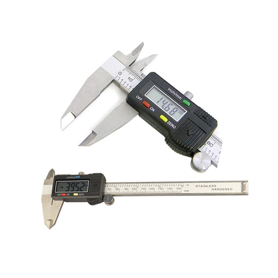 "6/"" LCD Digital Electronic Vernier Caliper mm Inch Conversion Gauge Micrometer"