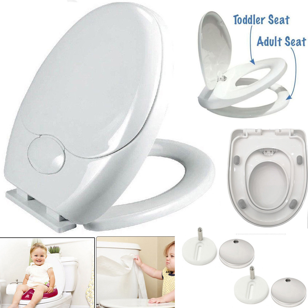 3 IN 1 Luxury Soft Close Bathroom Family Child Toilet Seat Fixing