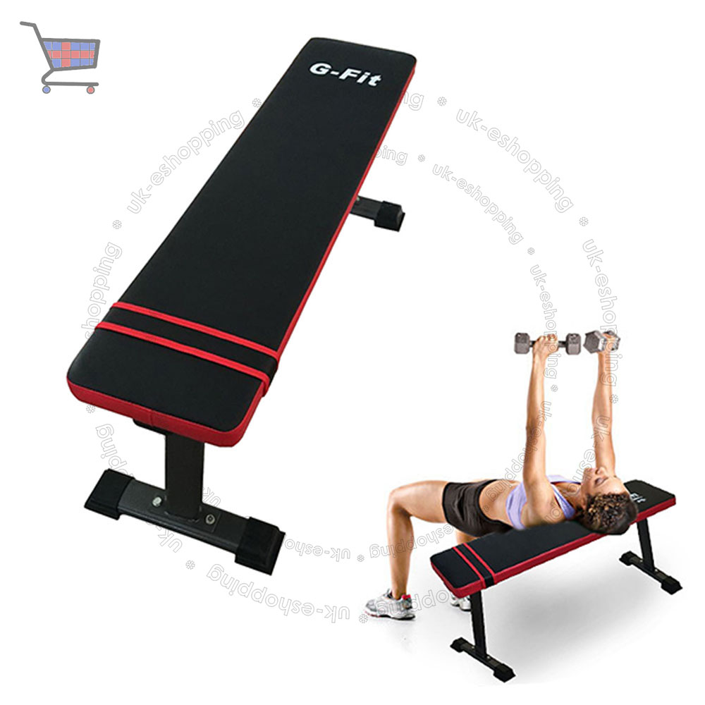 Flat weight bench home gym exercise lifting chest abs