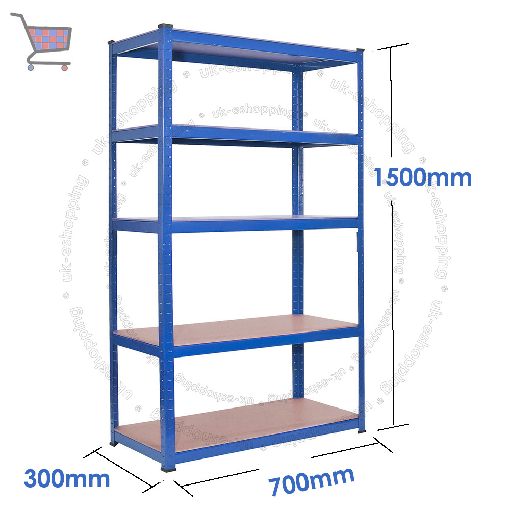 steel storage racks 5 tier rack garage shelving shelves racking metal shelves 26781