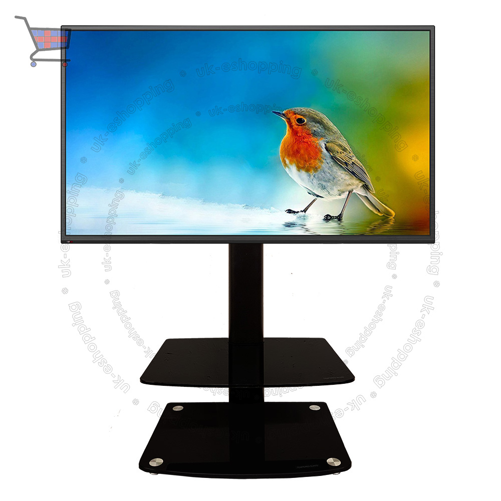 Universal Table Top Tv Stand Dvd Bracket Glass Pedestal Lcd Led  # Support Tv Sur Pied But