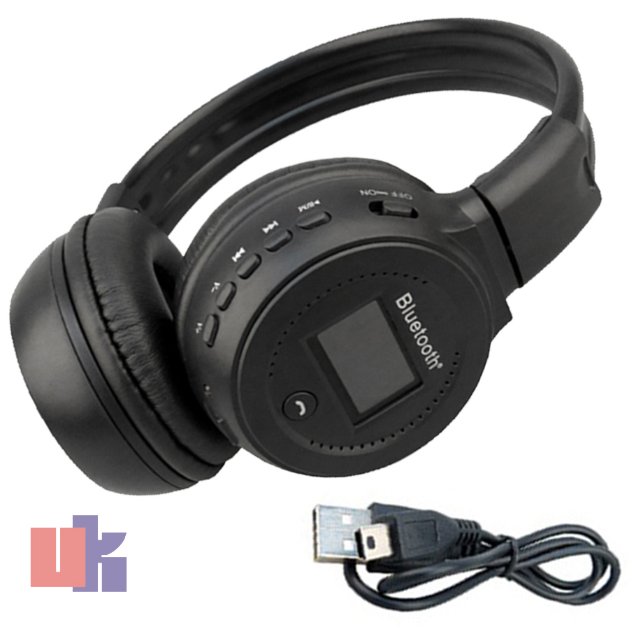 New Stereo Bluetooth Wireless Headset / Headphones With Call Mic / Microphone UK