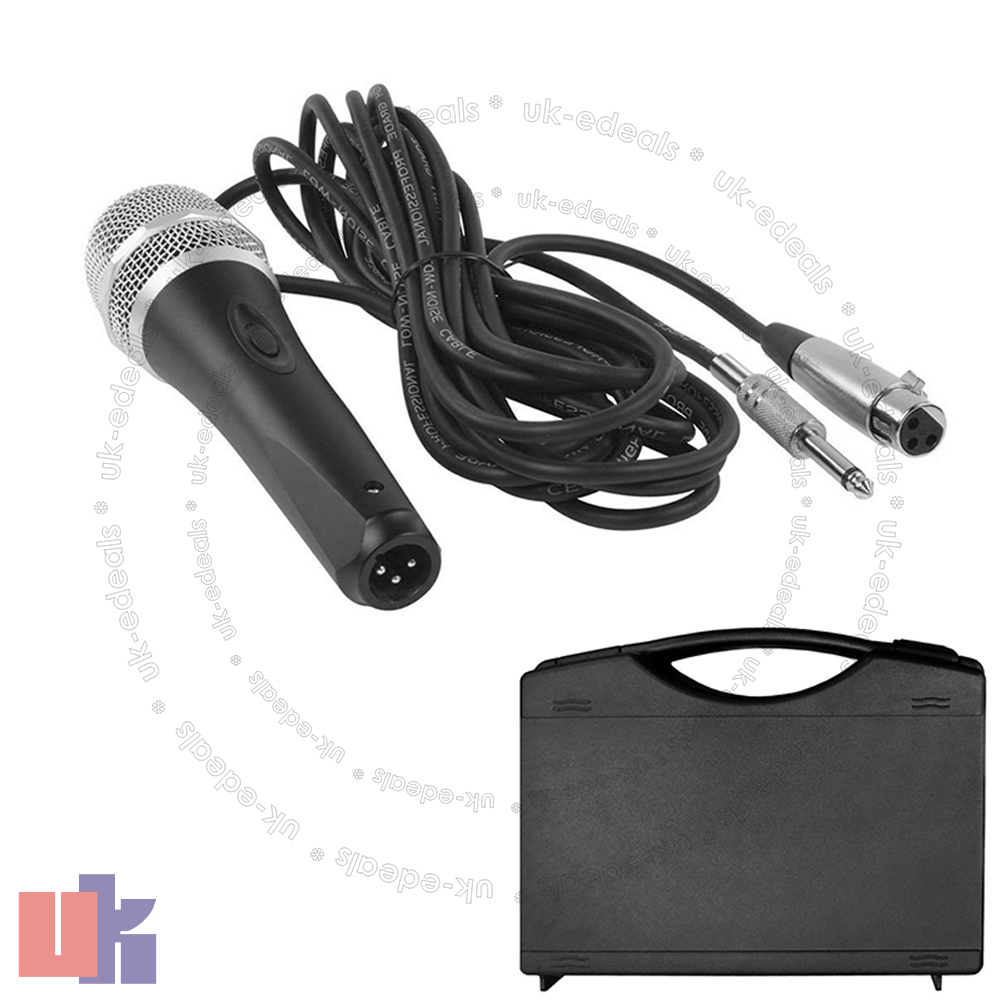 professional uni directional dynamic microphone with 5m xlr lead and case uked ebay. Black Bedroom Furniture Sets. Home Design Ideas