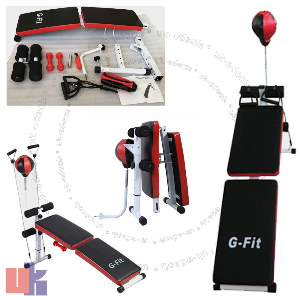 G fit folding weight bench home gym exercise lifting chest