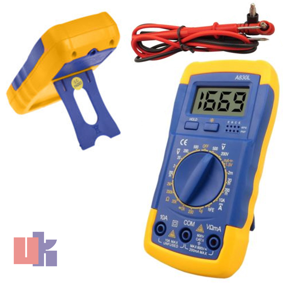 Ac Dc Voltmeter : Multimeter tester ammeter ac dc ohm meter a l auto range